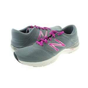 Womens Grey Pink Athletic Training Shoes Sneakers